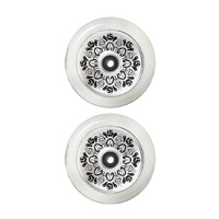 Fuzion Leo Spencer Sig Wheels 110mm | Silver/Clear